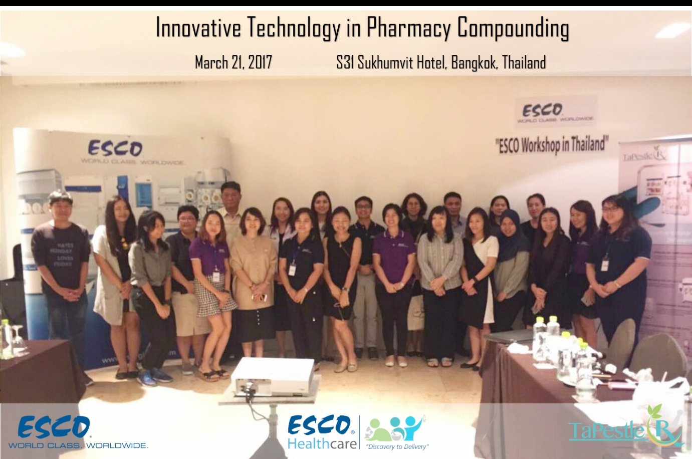 Esco Thailand successfully conducts 2nd run of Pharmacy Compounding Workshop
